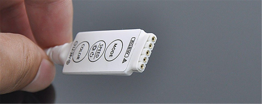 DC12-24V 2A*4CH (MAX:4A) Mini RGBW LED Controller with White OR Black Shell