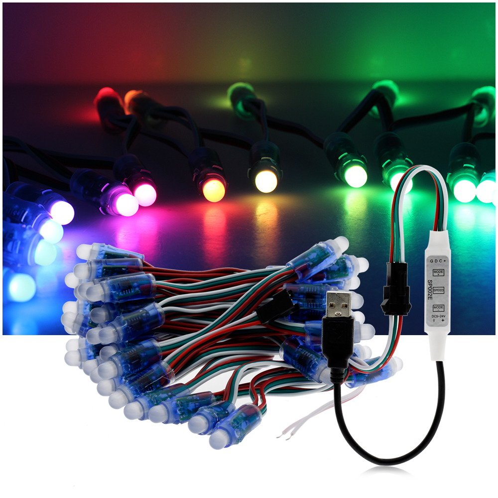 DC5V WS2811 LED Module RGB Full Color String Point Lights 50Pixels