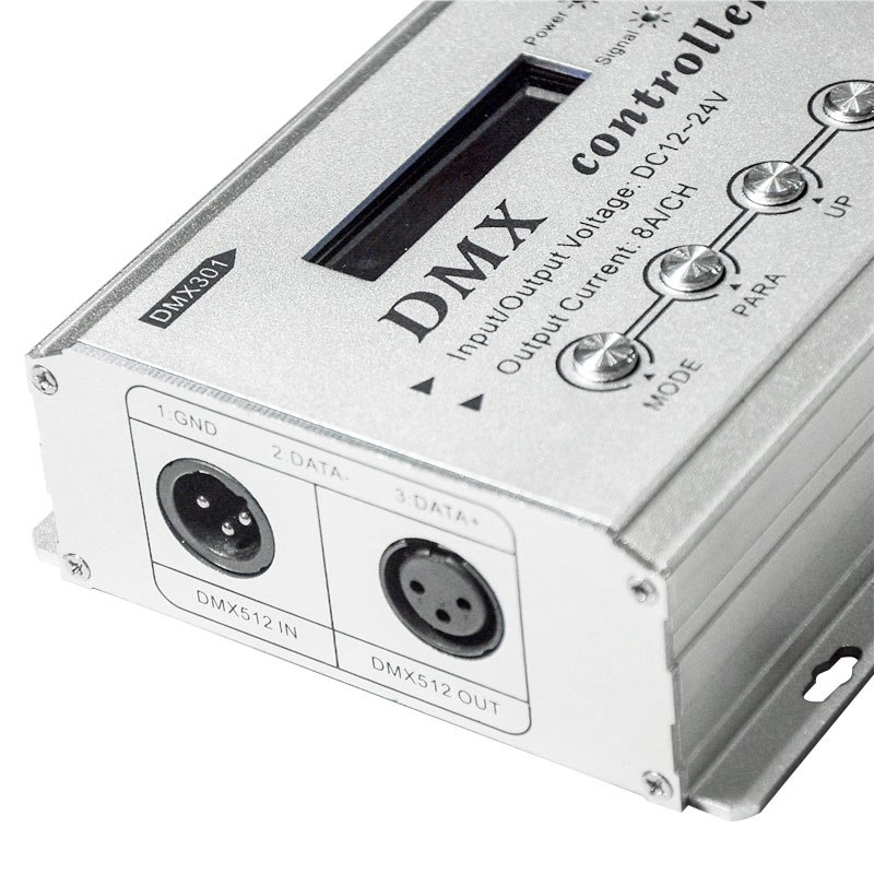 DC12-24V 8A/Channel Low Voltage LCD Display DMX Controller