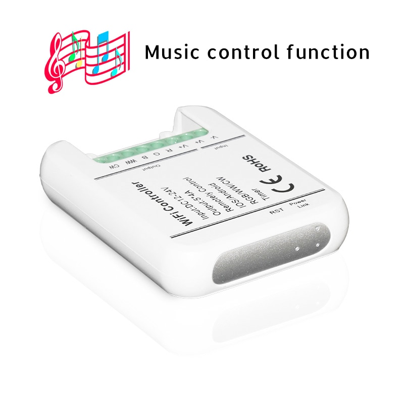 DC12V 24V WiFi LED Controller RGB/RGBW/RGBWW 16 Million Colors Music and Timer Mode
