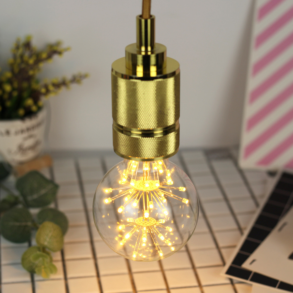3W E27 G80 Fireworks Light LED Edison Bulb AC85-265V Home Light LED Filament Light Bulb