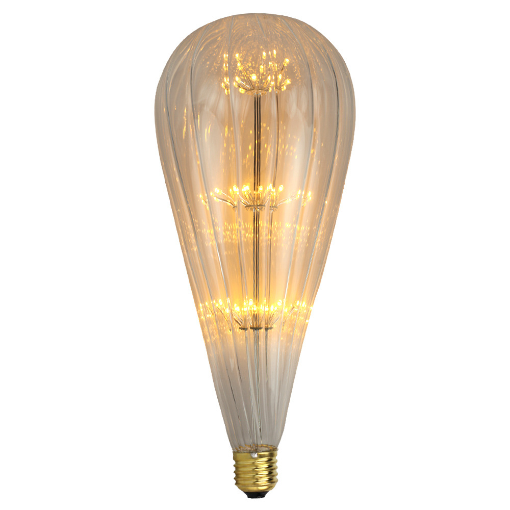 3W E27 Loofah Fireworks Light LED Edison Bulb AC85-265V Home Light LED Filament Light Bulb