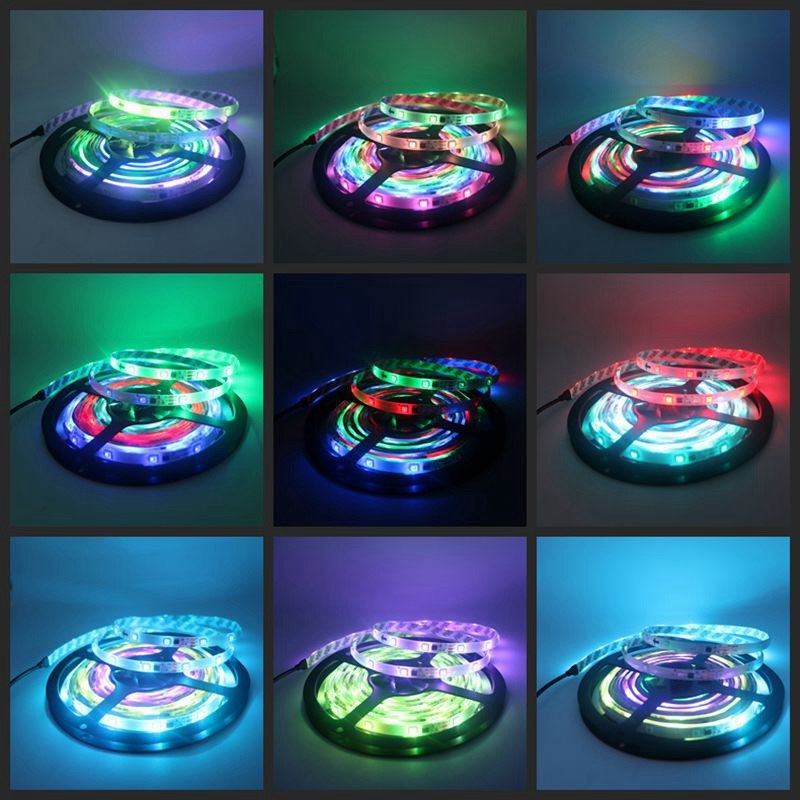 DC 12V 5050 WS2811 RGB LED Strip Auto Change Color Flexible Tape Light