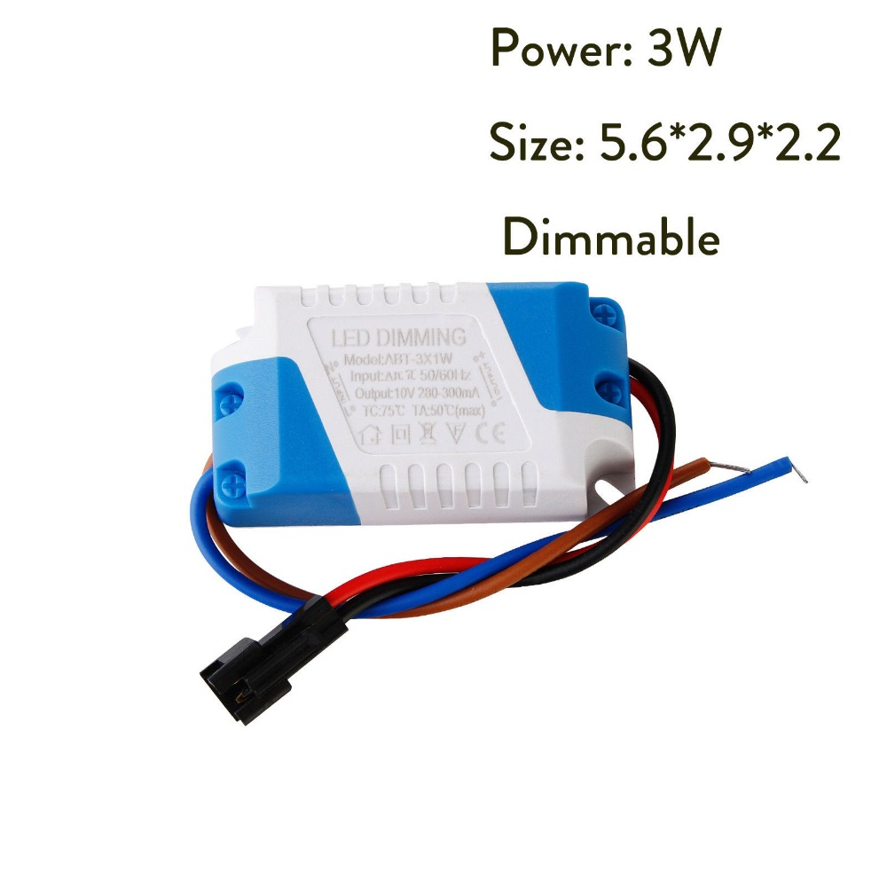 Dimmable Power LED Driver 3W 5W 7W 8-10W 15W 15-24W Power Supply Transformer 300mA