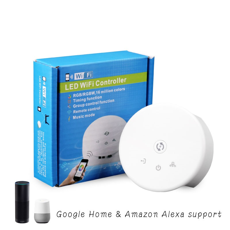 Round UFO Shape RGBW LED WiFi Smart App Controller Compatible with Google home & Amazon Alexa