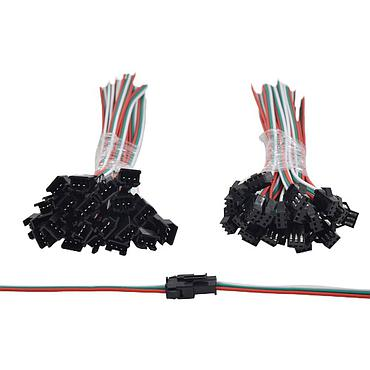 SM Male Female jst Connector 2Pin 3pin 4pin 5pin Wire Cable Pigtail Plug WS2811 WS2812B RGB 5050 5630 Strip Connector