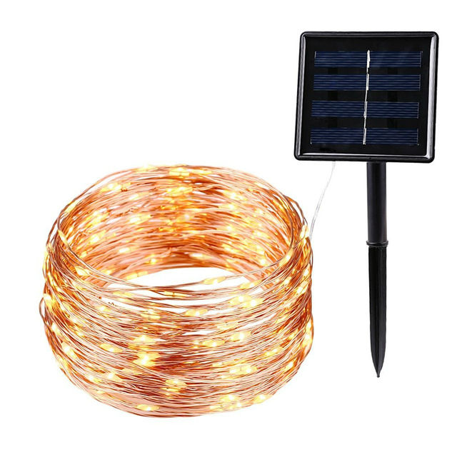 Solar Powered LED Light String Copper Wire 5M/10M/15M/20M/30M