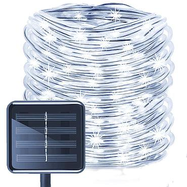 Solar Powered LED Light String Silver Wire 5/10M 8 Modes