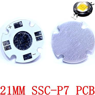 SSC-P7 21mm White Aluminum Base Plate PCB Board