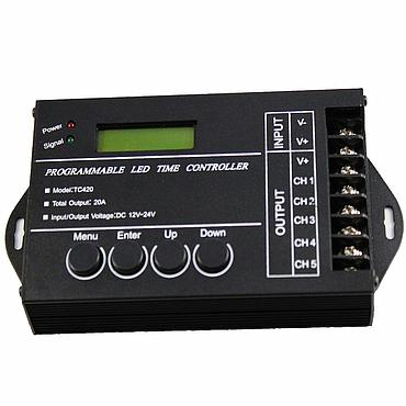 TC420 Programmable LED Time Controller Dimmer for RGBW LED Strip Lighting DC12V-24V