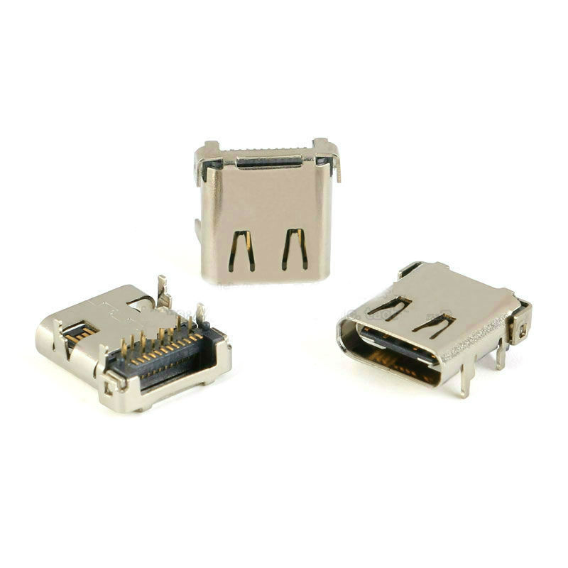USB-3.1 Socket Type-C 24P 4 Feet Plate Connecter