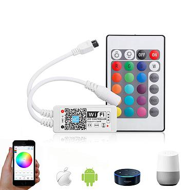 WiFi Mini RGB LED Strip Light Controller with IR Remote Controller