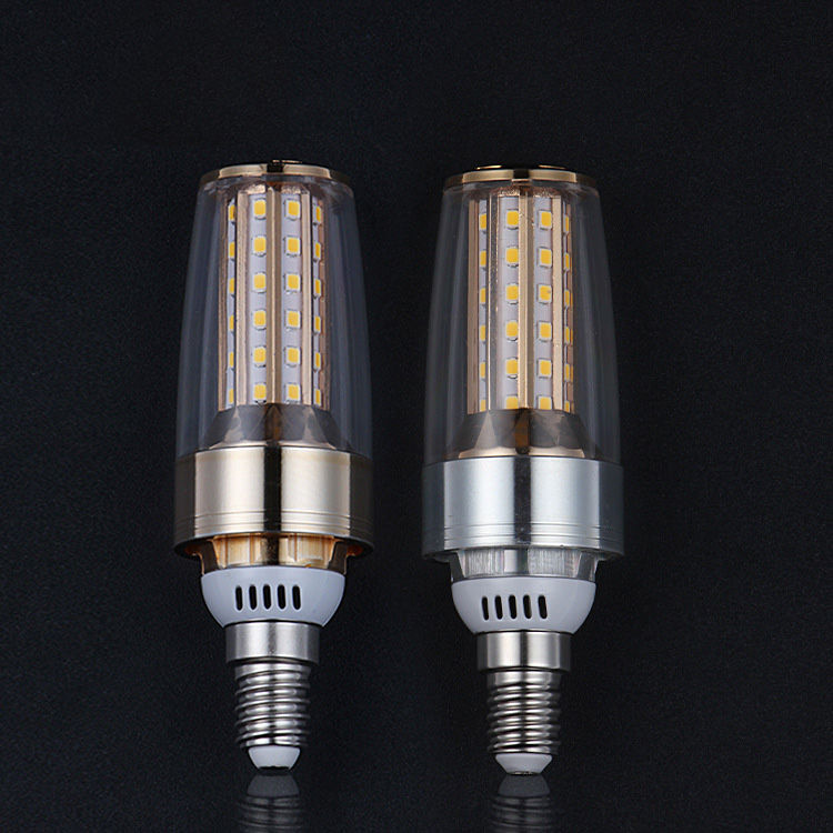12W E14 E27 2835 SMD LED Bulb 185-265V No Flicker Home Light LED Corn Bulb 3