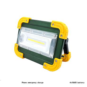 30W Recharge Portable COB LED Floodlight Lithium 4 x 18650 Battery Outdoor Working Light