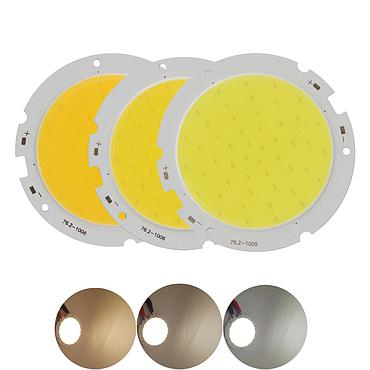 20W 24W 30W 40W LED COB Module LED COB Round Panel DC 12V 400mA 76mm PCB 60mm Emitting Area Warm Natural White