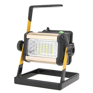50W 2400LM Recharge Portable LED Floodlight Waterproof IP65  36LED 3-Mode Outdoor Lamp