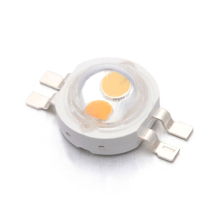 6W High Power Imitation Lumen RGB Double Color White Warm White