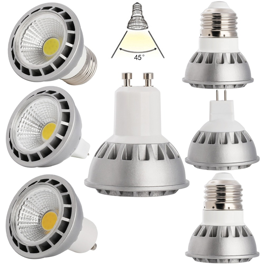 15W E27 GU10 MR16 LED Bulb Lamp AC110V/220V/85-265V DC12V Home Light Aluminum Spotlight