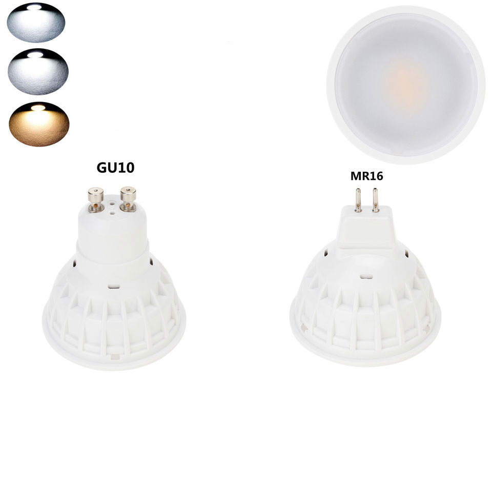 15W GU10 MR16 COB LED Bulb Lamp 110V/220V/DC12V LED Dimmable Spotlight PC Cover