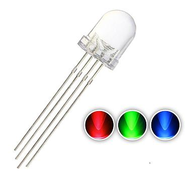 F8 8mm Water Clear RGB LED Common Anode Common Cathode Tri-Color Emitting Diodes