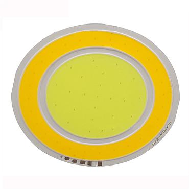 5.6*2W LED COB Module LED COB Round Panel DC12V/460mA 82MM Dual CCT Warm White + White