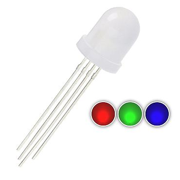 F10 10mm Diffused RGB LED Common Anode Common Cathode Tri-Color Emitting Diodes
