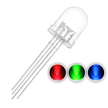 F10 10mm Water Clear RGB LED Common Anode Common Cathode Tri-Color Emitting Diodes