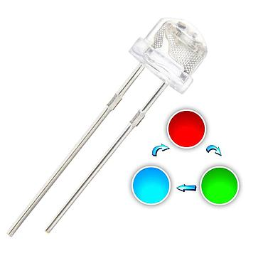 F5 5mm Fast/Slow RGB Flash LED Straw Hat Water Clear Red Green Blue Rainbow Multi Color Light Emitting Diode