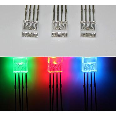 2x5x5 RGB 4Pin LED Diode Common Anode/Cathode 255 RGB Square rectangle Superbright LED