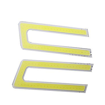 5W U Shape DRL COB LED Panel Strip Light 132*53mm DC 12V 400mA White 6500K