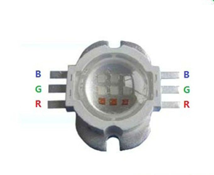10W /9W RGB LED Emitter 6 Pins With Lens