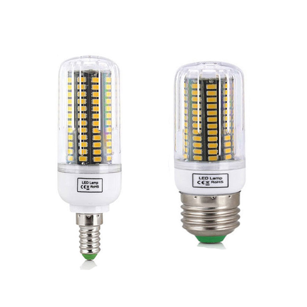 20W E14 E27 5736 SMD LED Corn Bulb Lamp AC220V Chandelier LEDs Candle Light