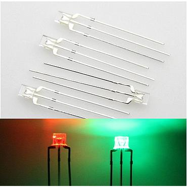 Through Hole Bicolor 234 2x3x4 LED Diode Light Beads Red Green/ Blue