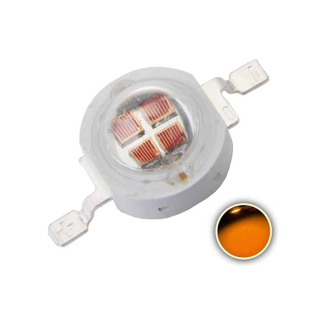5W High Power LED Emitter Orange/ Amber/ Yellow/ Golden Yellow