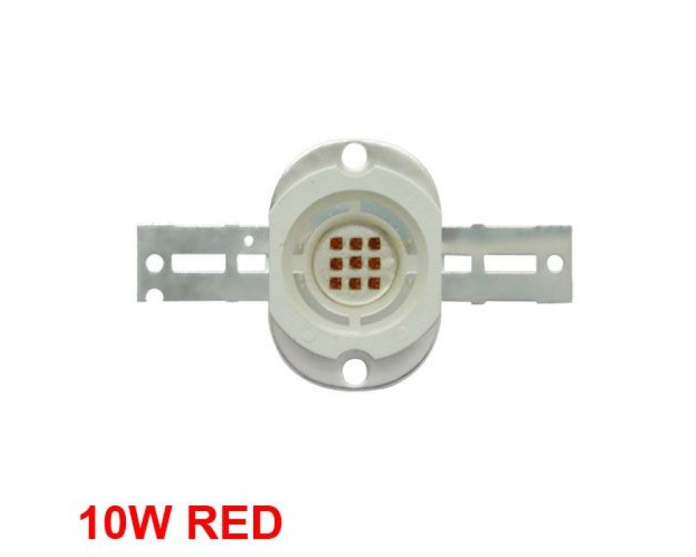 10W High Power LED Emitter  Red /Green /Blue /Royal Blue /Cyan /Far Red Round Shape