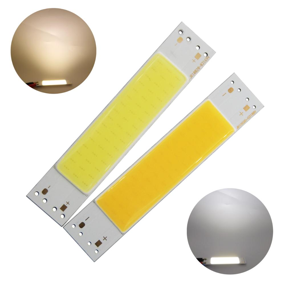 5W LED COB Light Bar Module 6-9V 830mA Warm White/ White 100*20mm