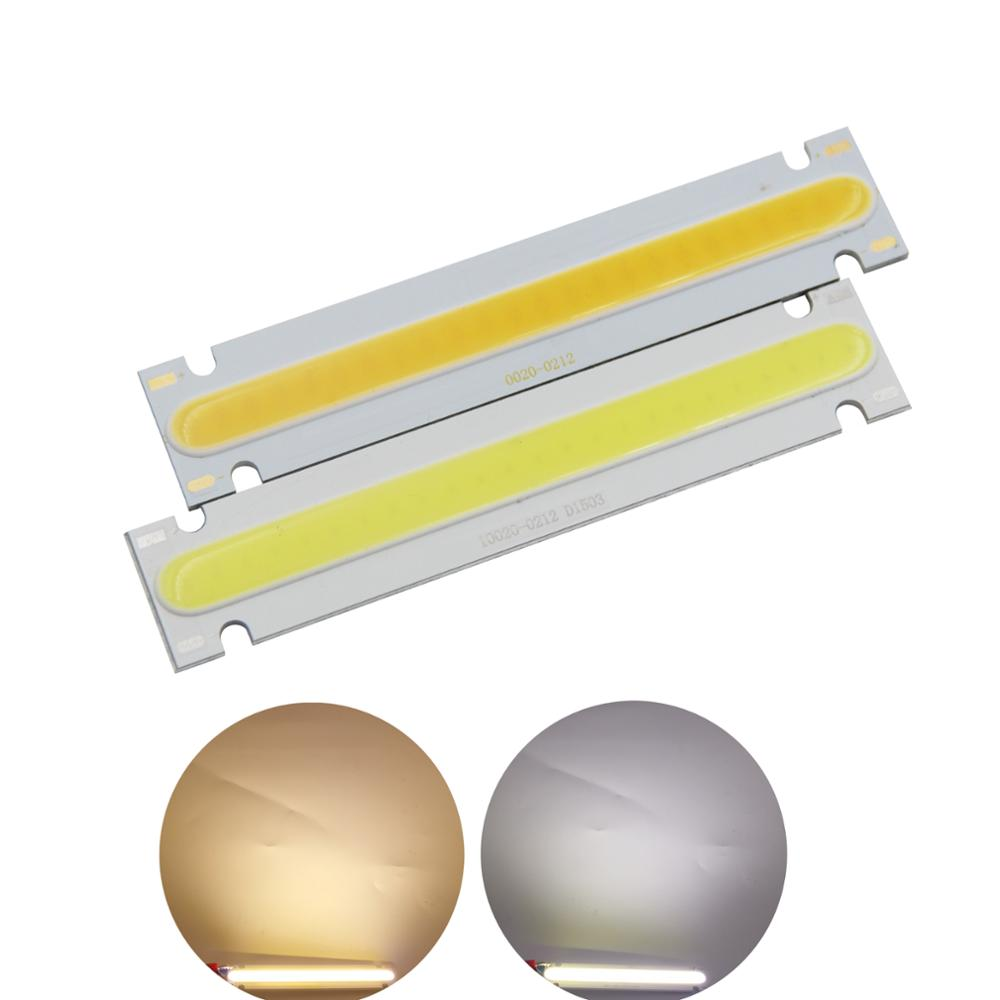 5W LED COB Strip 100x20mm module Bar Light Lamp DC 6V Cold Warm White