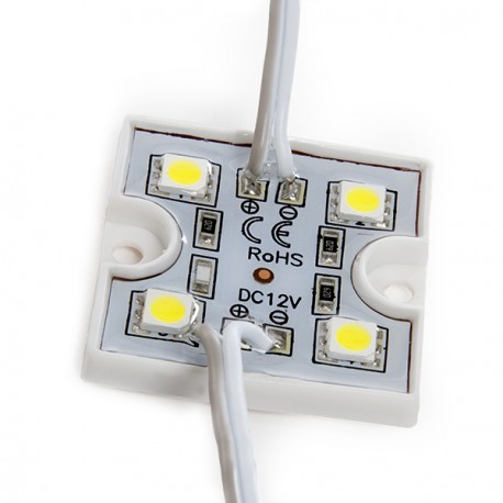 DC12V SMD 5050 LED Module 4 LEDs Emitting White/Warm White/Red/Green/Blue/Yellow