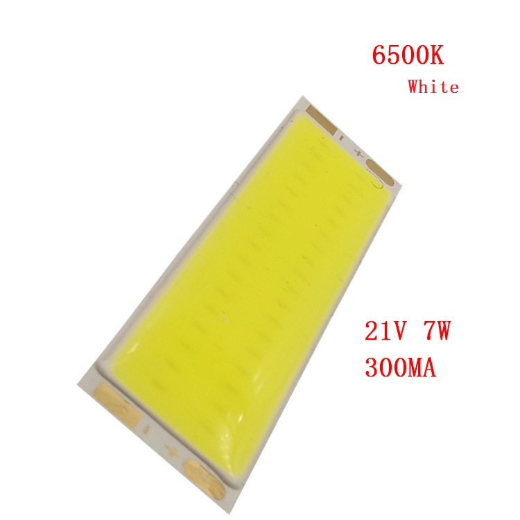 7W LED COB Light Bar Module 21V 300mA Warm White / White 76*15mm