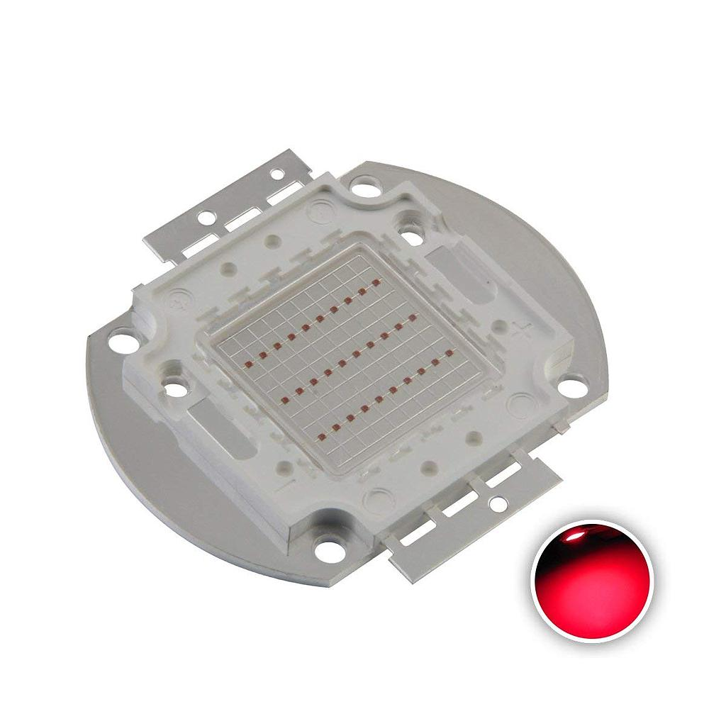 30W High Power LED Emitter Red /Green /Blue /Royal Blue /Cyan /Far Red Elliptical Holder