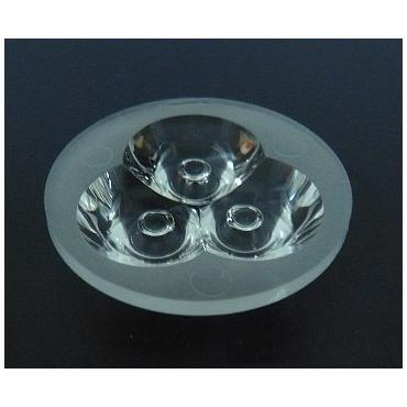 35mm Diameter LED Module Lens 3 LEDs 15° 45° Flat Water Clear/Matte Lens