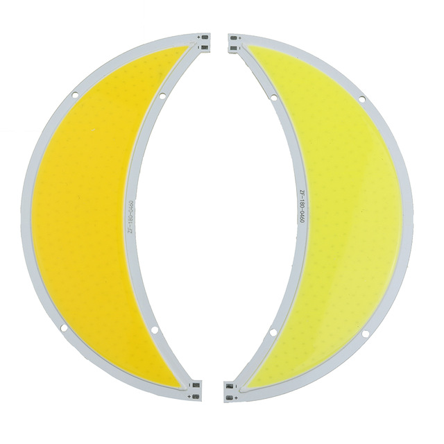 60W LED COB Light Module 180*55mm Moon shape DC 12V 5A Warm White / White