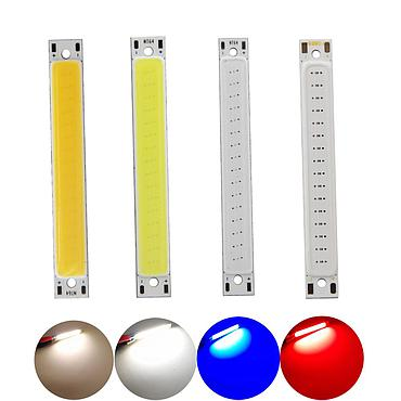1W COB LED Light Source Module Warm Cold White Blue Red 3-3.7V 300mA 60*8mm