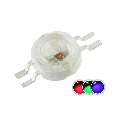 1W High Power LED Color RGB 4 Pin 6 Pin(300mA-350mA for Each Color 3 Watt)