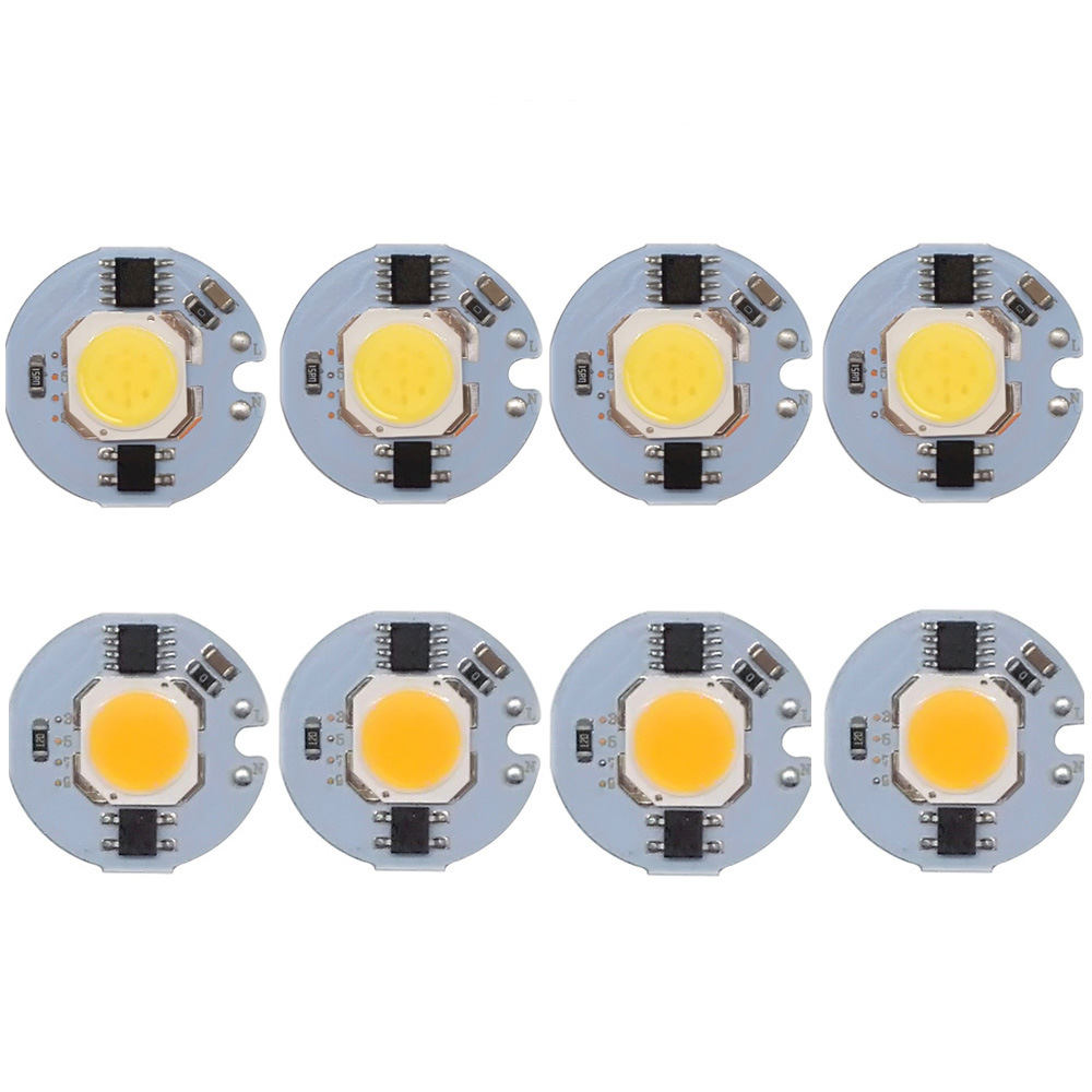 3/5/7/9W 27x27mm Led Cob Chip Diode  Driverless AC 110V/220V Emitting White/Warm White