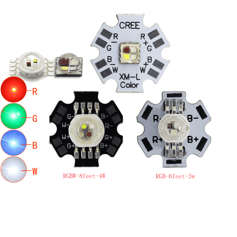 3W CREE XML High Power LED Emitter RGB 4 Pin 6 Pin With 20mm Aluminum PCB
