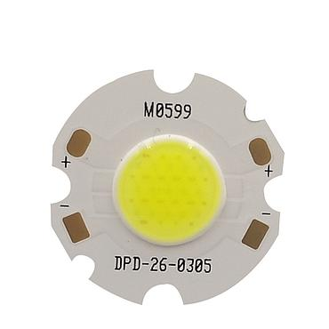 3W LED COB Module LED COB Round Panel 300mA 26mm PCB 12mm Emitting Area White