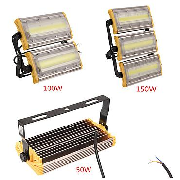 LED Floodlight 50W 100W 150W Outdoor Lighting Garden Lamp AC 85V-265V