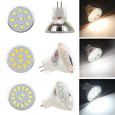 2W 3W 4W MR11 5730 SMD Bulb Lamp AC/DC12-24V LED Home Light Spotlight