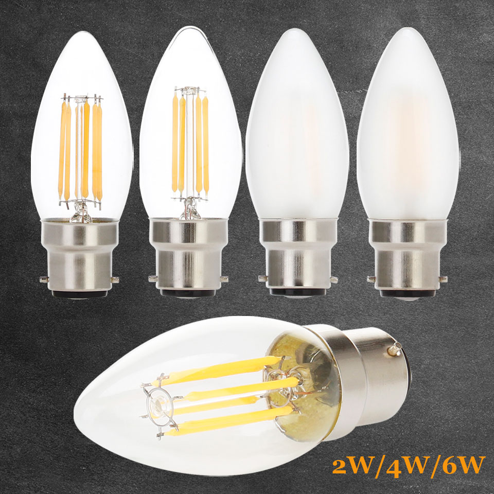 2W 4W 6W B22 C35 LED Edison Bulb AC220V Home Light LED Filament Light Bulb